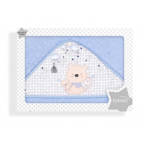 Capa de baño Osito Love Azul Interbaby