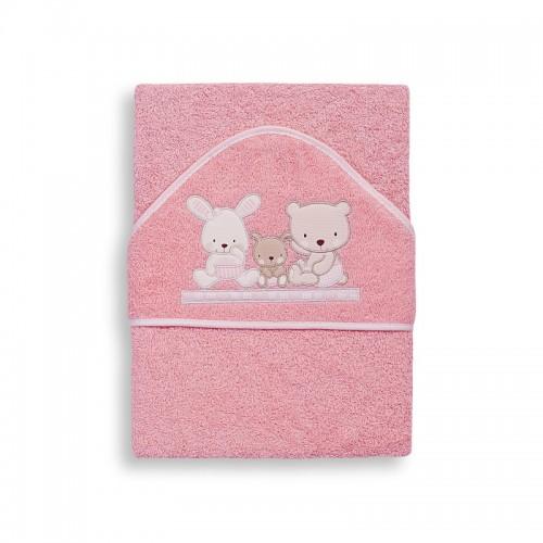 Capa de baño Love rosa