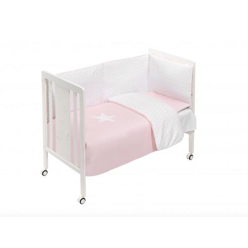 Cuna con Textil Rosa Interbaby M0044