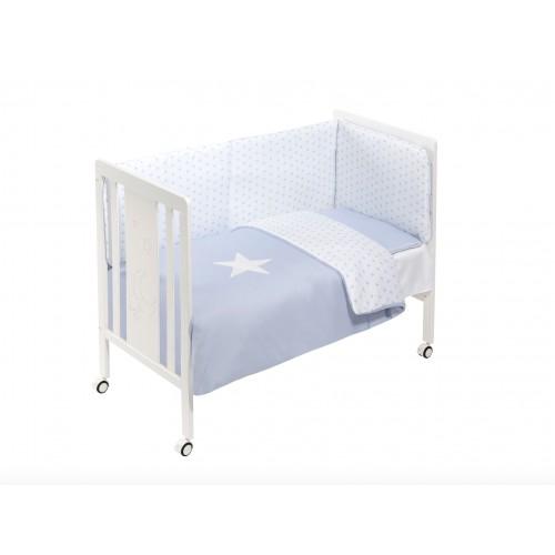 Cuna con Textil Azul Interbaby M0044