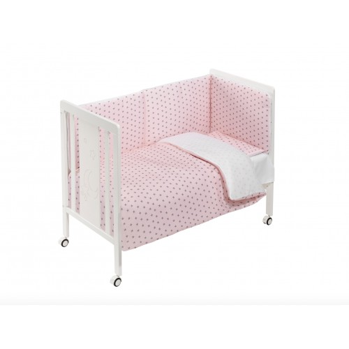 Cuna con Textil Rosa Interbaby M0043
