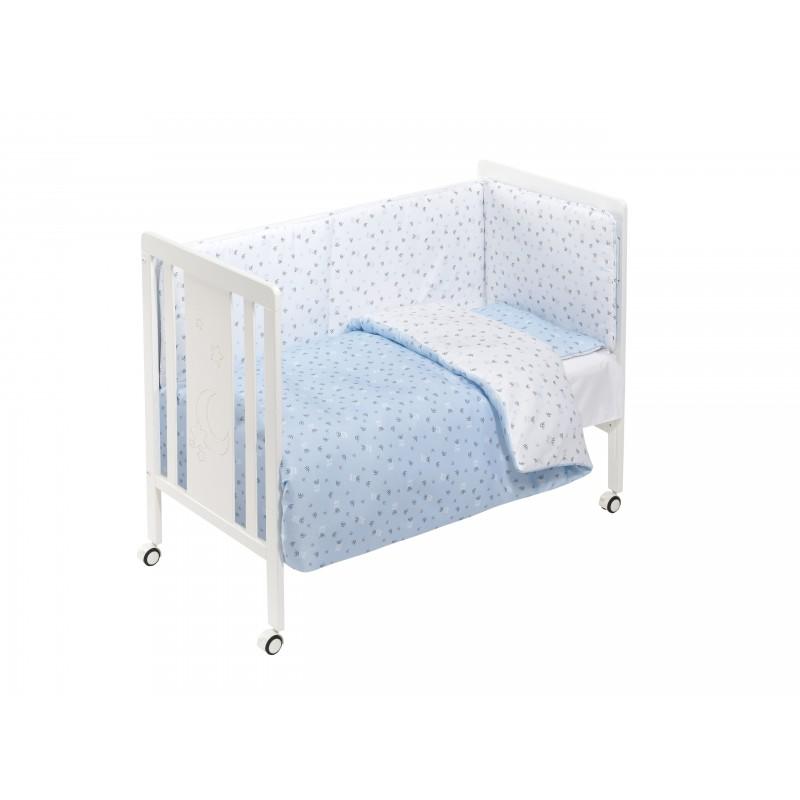 70330d4bc Cuna de madera con textil Azul M0040 Interbaby - Matbotex
