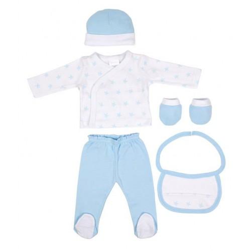Set Bebé Primera Puesta 5 Piezas Azul Interbaby