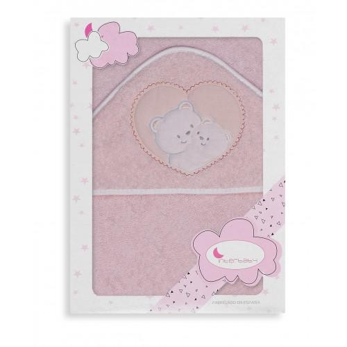 Capa de baño Osos Corazón Interbaby