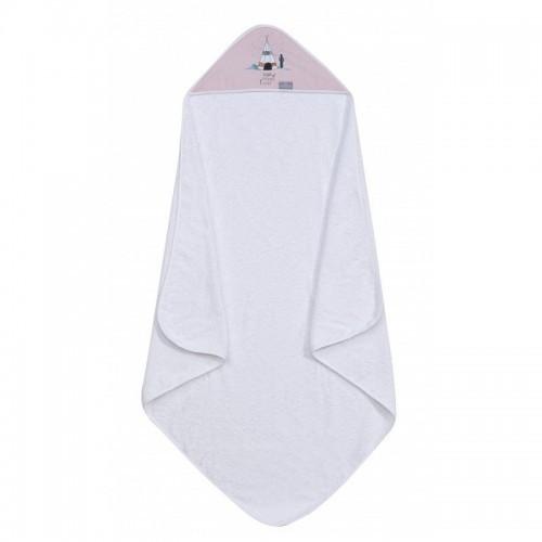Capa de baño Dakota blanco/rosa