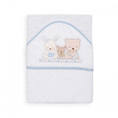 Capa de baño Love Azul Interbaby